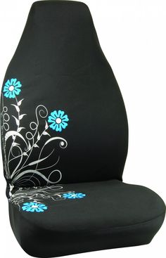 Pretty Silver and Blue Bucket Car Seat Cover