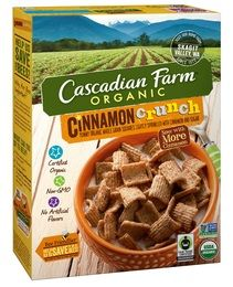 cascadian farm cinnamon crunch cereal