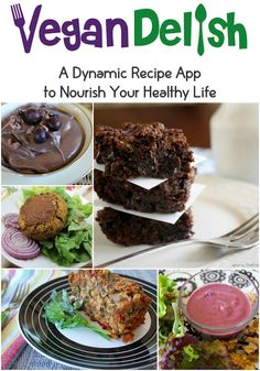 Some of the recipes on Vegan Delish: Avocado Chocolate Pudding, Flourless Zucchini Brownies, Ultimate Tofu Burger, Berry Walnut Dressing, and Lentil Oat Loaf. Download the app from the App store in iTunes today!