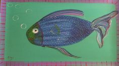 New to SissysFolkArt on Etsy: Big Fish Floor Cloth/Poster (125.00 USD) Floor Cloth, Big Fish, Flooring, Unique Jewelry, Handmade Gifts, Poster, Animals, Inspiration, Etsy