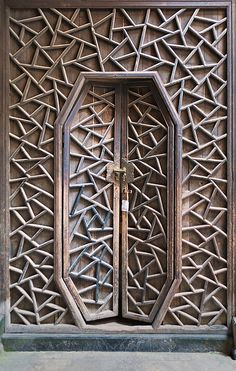 Antique Handcrafted Door, The village of Xidi, Anhui, China