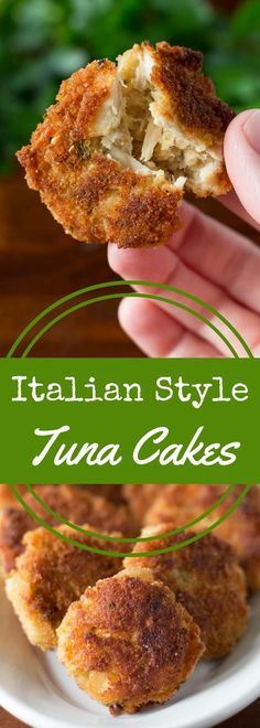 Crispy, crunchy tuna cakes made with albacore tuna are perfectly easy and made with just four ingredients! This recipe is great for appetizers or dinner. via @recipeforperfec