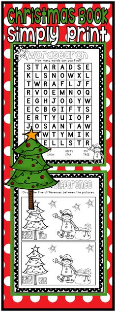 Simply Print this Christmas Packet and use as a book, in centers or as homework. Great Christmas Fun! ($)