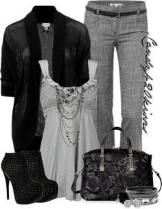 """grey and black"" by candy420kisses on Polyvore"