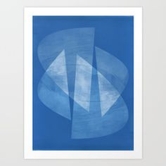 Blue & White Geometric Mid Century Modern Abstract Art Print by mininst Disney Canvas Art, Canvas Art Quotes, Alternative Photography, Art Deco Buildings, Easy Art Projects, Cool Art Drawings, Watercolor Artists, Design Art, Modern Art