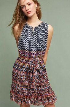 a69e818ba0a5 New Anthropologie Padma Silk Dress by Shoshanna Retail $378 Size 6 # Anthropologie #FitFlareDress #