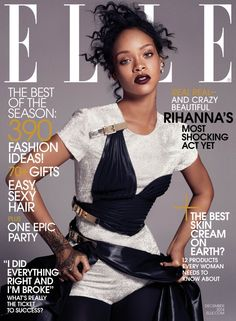 Rihanna Covers ELLE's December 2014 Issue