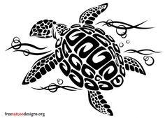 Hawaiian Tribal Turtle Tattoo Designs
