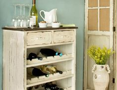 this looks like an easy redo project I just dont keep that many bottle of wine around.  Woodland Imports