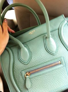 Celine Bag...one of my favorites. Love this mint color! #celine