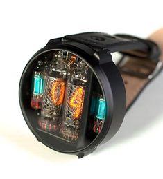 Yauheni Artsimouski & Dzianis Obukhau is raising funds for NIWA Nixie watch. New version of NIWA Nixie watch. Wireless charge and much more. Stylish Watches, Cool Watches, Watches For Men, Smartwatch, Nixie Tube Watch, Swiss Clock, Watch Sale, Watch 2, Gadget Watches