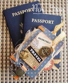 Transatlantique Luggage Tag by Pam Bray. Amazing! #graphic45