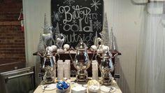 Hot beverage station Linda Miller, Beverages, Chandelier, Ceiling Lights, Weddings, Hot, Home Decor, Candelabra, Decoration Home