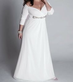 plus size dresses with sleeves | plus size wedding dresses with sleeves