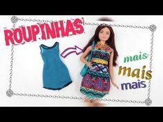 Cropped para Barbie | Como Fazer Roupa de Boneca - YouTube