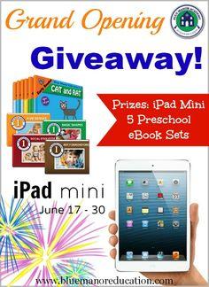 Blue Manor Academy iPad Mini and Prek & Kindergarten eBooks Giveaway - Enchanted Homeschooling Mom