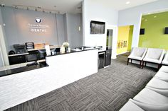 Dental Office Build Out Bright Waiting Room