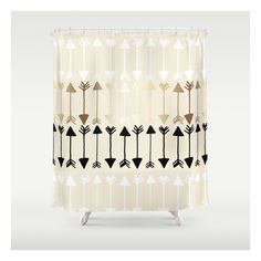 Arrows Shower Curtain ($68) ❤ liked on Polyvore featuring home, bed & bath, bath, shower curtains and orange shower curtains