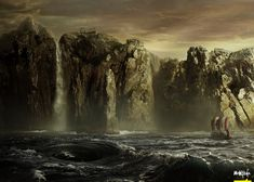 Charybdis is a whirlpool, one of two monsters inhabiting a narrow straight that…