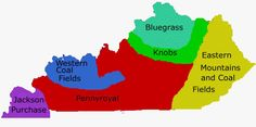 Kentucky is composed of five geographic regions: the Bluegrass Region, the Cumberland Plateau, the Western Coal Field, the Pennyroyal Region, and the Jackson Purchase Region.