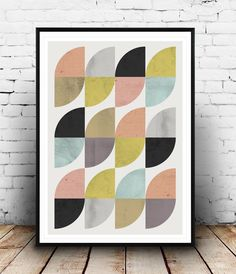 Abstract wall art, mid century modern, colorful pattern print, geometric print, abstract poster, modern decor, home art, textured art, by Wallzilla on Etsy https://www.etsy.com/listing/223112539/abstract-wall-art-mid-century-modern