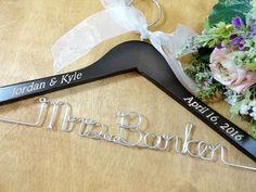 SALE 20% OFF Personalized Wire Hangers by OriginalBridalHanger  $23.99  Click on photo to BUY NOW!  If you are a bride looking for a nice hanger to hold your wedding dress, this engraved wedding hanger will be perfect. #originalbridalhanger has a large selection of hangers and designs to choose from!  Click here: originalbridalhanger.etsy.com to see the selection!