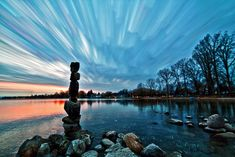 love these gorgeous smeared skies (by matt molloy)