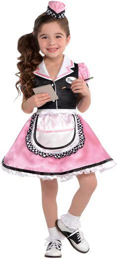 Girls Dinah Girl Waitress Costume - Party City  sc 1 st  Pinterest & 1950u0027s Betty Lou Adult Waitress Diner Costume (M/L) | Pinterest ...