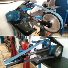 New attachments for kmjet grinder. #beltgrinder #knifegrinder