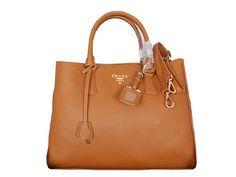 Designer Handbags Prada Grainy Calf Leather Tote Bag BN2961 Wheat c7943f95ad2e6