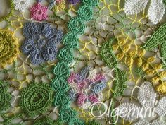 Olgemini tutorial on piecing together crochet motifs. Excellent photos!
