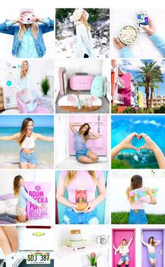 She is doin good at keepin her theme reallll - Modern Alisha Marie Instagram, Instagram Tips, Instagram Feed Goals, Instagram Layouts, Cute Photos, Cute Pictures, Selfies, Famous Youtubers, Mylifeaseva