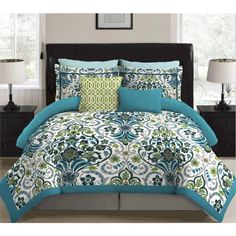 Stylenest Willa Bed in a Bag Bedding Set, Multicolor Home Bedroom, Master Bedroom, Bedroom Ideas, Bedrooms, Embroidered Bedding, Virginia Homes, Bed In A Bag, Dust Mites
