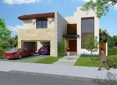 Fachadas de Casas Modernas: Linda Fachada de Casa Moderna en Hermosillo