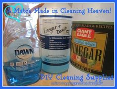 Dawn and Vinegar - Love at first sight.  A perfect multicleaner duo.  DIY cleaning    It cleans almost everything.  sistersshoppingonashoestring.com