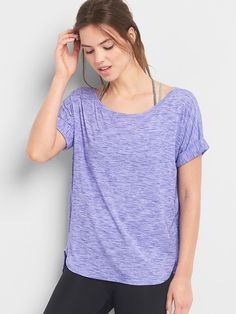 Breathe slub roll-sleeve tee