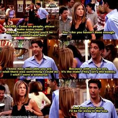 Ross is so funny! (Season 8 Episode The One Where Rachel Is Late) Friends Moments, Friends Tv Show, Friends Forever, Best Tv Shows, Best Shows Ever, Favorite Tv Shows, Ross And Rachel, I Love My Friends, Friend Memes