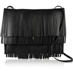 Proenza Schouler The Lunch Bag fringed leather shoulder bag (1,980 CAD) ❤ liked on Polyvore featuring bags, handbags, shoulder bags, bolsas, purses, shoulder handbags, leather shoulder handbags, accessories handbags and purse