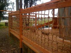 "Rope ""mesh"" fencing"