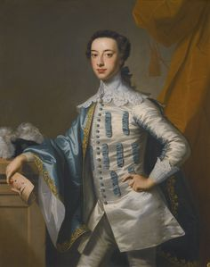 THOMAS HUDSON DEVON 1701 - 1779 TWICKENHAM PORTRAIT OF SIR JAMES LOWTHER, 1ST EARL OF LONSDALE (1736–1802) THREE-QUARTER LENGTH, HOLDING A MASK IN HIS RIGHT HAND