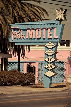 images of motels 1946 | Pink Motel, 1946, Sun Valley California