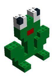 Dit lego ontwerp en vele andere kun je vinden op de website van Juf Milou. Lego Therapy, Lego Animals, Lego Friends, Lego Duplo, Lego Brick, Legoland, Infant Activities, Legos, Diy And Crafts