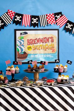 Jake and the Neverland Pirates birthday party - with fun pirate party ideas!