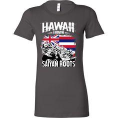Super Saiyan Hawaii Grown Saiyan Roots Woman Short Sleeve T Shirt - TL00165WS