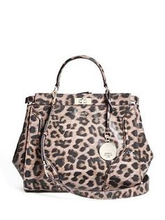 Georgie Leopard-Print Satchel | shop.GUESS.com