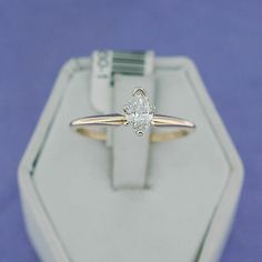 14k Yellow Gold 0 48 Carat Pear Cut Diamond Solitaire Engagement Ring 585 14kt | eBay