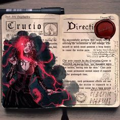 Unforgivable curses 2/3, the torture spell Crucio #harrypotter #bellatrixlestrange #illustration #sketchbook #hpspellbooks #witch #drawing #doodle
