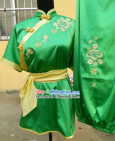Green Chinese Kung Fu Martial Arts Clothing for Women#938 - $195.00