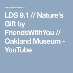 LDS 9.1 // Nature's Gift by FriendsWithYou // Oakland Museum - YouTube