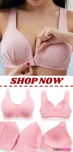 Wireless Front Closure Print Soft Gather Bras By Newchic Pretty Lingerie, Beautiful Lingerie, Diy Clothes, Clothes For Women, Couture, Bra Styles, Lace Bra, Fashion Outfits, Womens Fashion